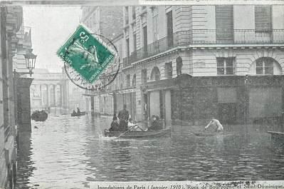 "/ CPA FRANCE 75007 ""Paris, janvier 1910"" / INONDATION"