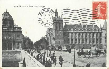 """/ CPA FRANCE 75001 """"Paris, le pont au Change"""" / FLAMME"""