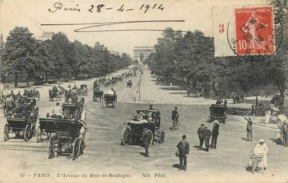 """/ CPA FRANCE 75016 """"Paris, l'avenue du Bois de Boulogne"""""""