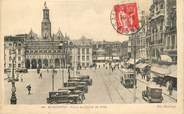 """02 Aisne / CPA FRANCE 02 """"Saint Quentin, place de l'hôtel de ville"""" / TRAMWAY"""