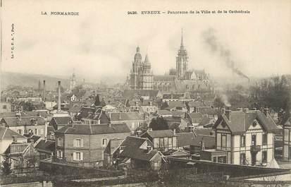 """/ CPA FRANCE 27 """"Evreux, panorama de la ville et de la Cathédrale"""""""