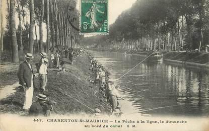 "/ CPA FRANCE 94 ""Charenton Saint Maurice"" / PÊCHE"