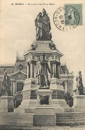 """/ CPA FRANCE 90 """"Belfort, monument des trois sièges"""""""