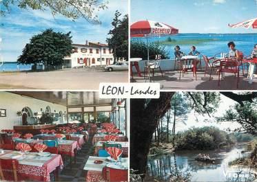 """/ CPSM FRANCE 40 """"Lac de Léon, hôtel du Lac"""""""