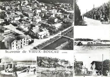 """/ CPSM FRANCE 40 """"Souvenir de Vieux Boucau"""""""