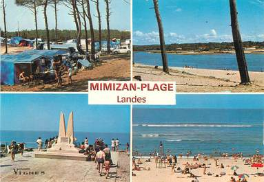 "/ CPSM FRANCE 40 ""Mimizan plage"" / CAMPING"