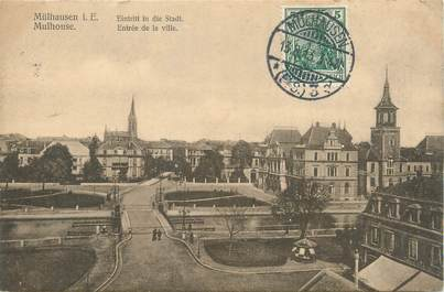 """/ CPA FRANCE 68 """"Mulhouse, entrée de la ville """""""