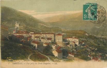 """/ CPA FRANCE 19 """"Sartène, vue prise des trois chapelles"""""""