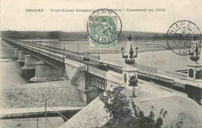 "/ CPA FRANCE 45 ""Briare, pont canal"""