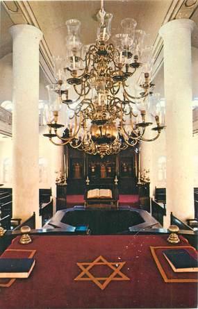 """CPSM CURACAO  / JUDAICA """"Interieur Synagogue"""""""
