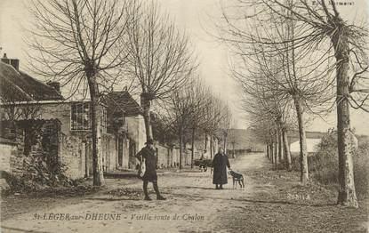 """/ CPA FRANCE 71 """"Saint Léger sur Dheune, vieille route de Chalon"""""""