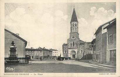 """/ CPA FRANCE 71 """"Romanèche Thorins, la place"""""""