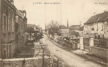 "/ CPA FRANCE 71 ""Laives, route de Nanton"""