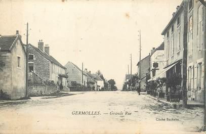 "/ CPA FRANCE 71 ""Germolles, grande rue'"""