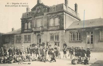"""/ CPA FRANCE 71 """"Digoin, école publique de garçons"""""""