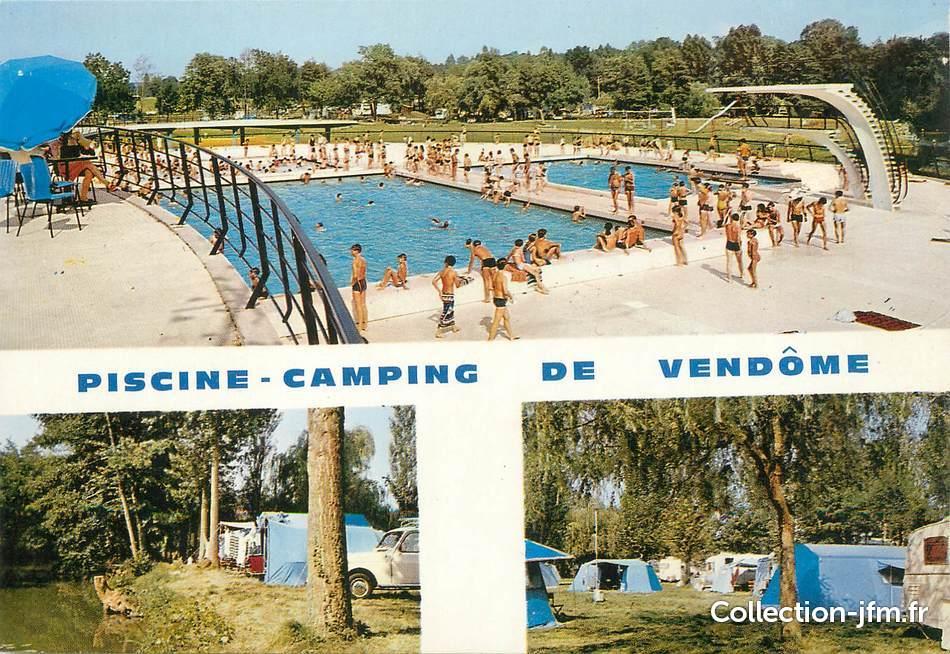 cpsm france 41 vend me piscine camping 41 loir et
