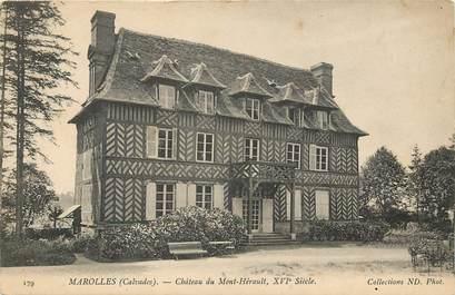 """CPA FRANCE 14 """"Marolles, Chateau du Mont Hérault"""""""