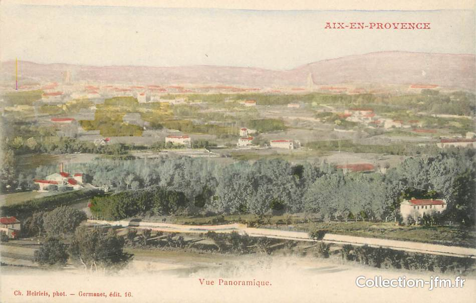 Cpa france 13 aix en provence vue panoramique 13 for Bouches du rhone 13