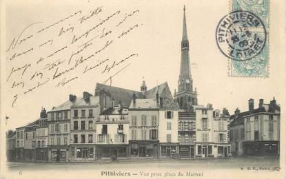 "/ CPA FRANCE 45 ""Pithiviers, vue prise place du Martroi"""