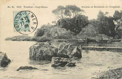 "/ CPA FRANCE 83 ""Toulon, Cap brun, pointe et rochers de Magaud"""