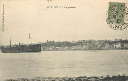 """/ CPA FRANCE 27 """"Quillebeuf, vue générale"""""""