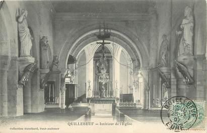 """/ CPA FRANCE 27 """"Quillebeuf, intérieur de l'église"""""""