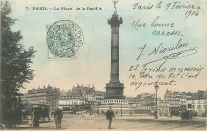 """/ CPA FRANCE 75011 """"Paris, la place de la Bastille"""""""