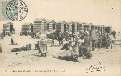 """/ CPA FRANCE 59 """"Malo Les Bains, Les Bains de Belle plage"""""""