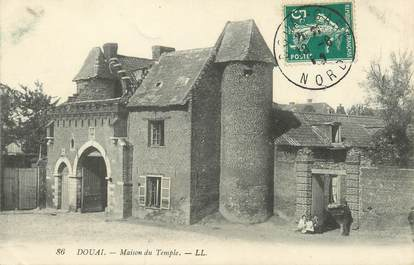 "/ CPA FRANCE 59 ""Douai, maison du temple"""