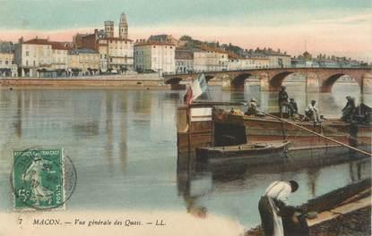 """/ CPA FRANCE 71 """"Mâcon, vue générale des quais"""""""