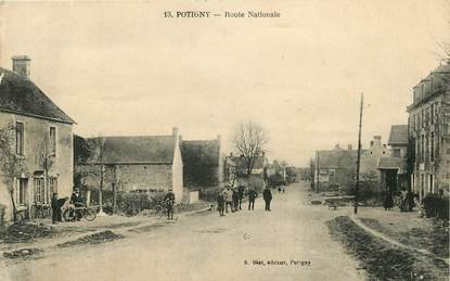 "CPA FRANCE 14 ""Potigny, route nationale"""