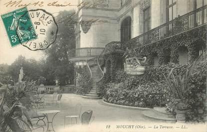 """CPA FRANCE 60 """"Mouchy, la Terrasse"""" / CACHET AMBULANT Creil à Beauvais"""