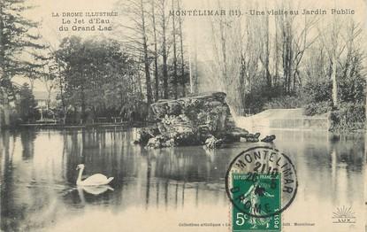 """/ CPA FRANCE 26 """"Montélimar, une visite au jardin public"""""""