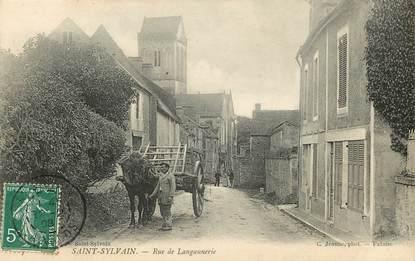 """CPA FRANCE 14 """"Saint Sylvain, rue de Langannerie"""""""