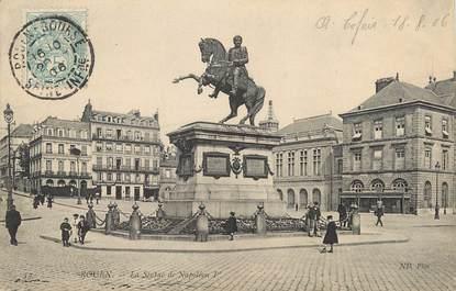 """/ CPA FRANCE 76 """"Rouen, la statue de Napoléon 1er"""""""