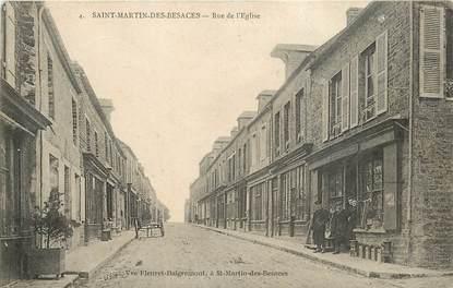 """CPA FRANCE 14 """"Saint Martin des Besaces, rue de l'Eglise"""""""