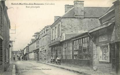 "CPA FRANCE 14 ""Saint Martin des Besaces, rue principale"""