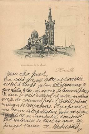 """/ CPA FRANCE 13 """"Marseille, Notre Dame de la Garde"""" / 1897"""