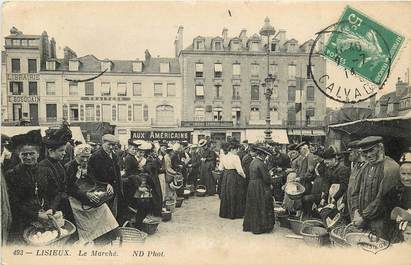 "CPA FRANCE 14 ""Lisieux, le Marché"""