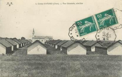 """CPA FRANCE 18 """"Camp d'Avord"""" / CACHET AMBULANT Saincaize à Vierzon"""