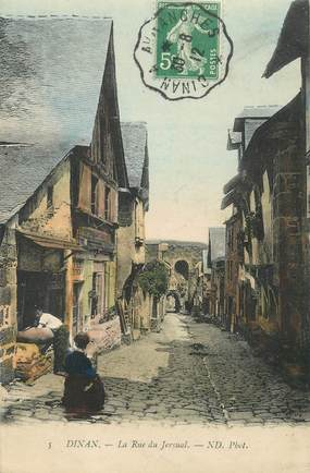 "CPA FRANCE 22 ""Dinan, la rue du Jersual"" / CACHET AMBULANT Dinan à Avranches"