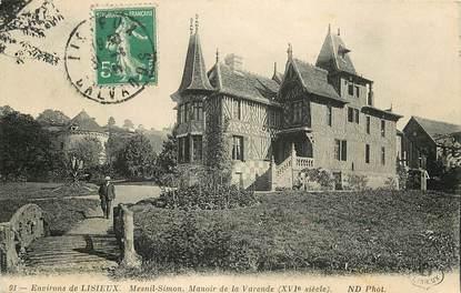 """CPA FRANCE 14 """"Env. de Lisieux, Mesnil Simon, Manoir de la Varende"""""""