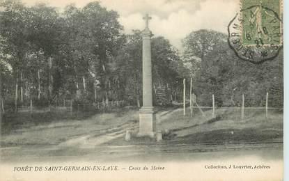 """CPA FRANCE 78 """"Forêt de saint Germain en laye"""" / CACHET AMBULANT Saint Germain à Paris"""