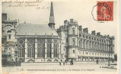 Cpa france 78 saint germain en laye le chateau cachet for Le salon saint germain en laye