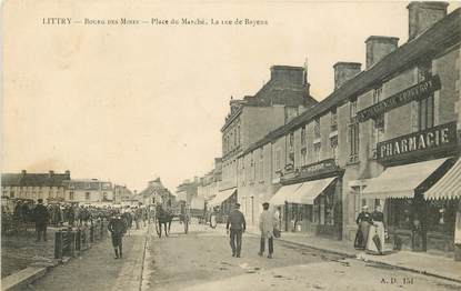 "CPA FRANCE 14 ""Littry, Place du Marché"""