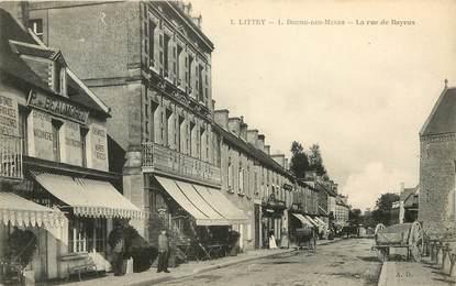 """CPA FRANCE 14 """"Littry, Rue de Bayeux"""""""