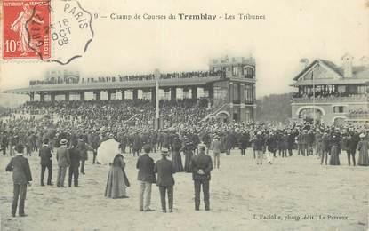 """CPA FRANCE 94 """"Champigny, Champ de courses du Tremblay""""  / CACHET AMBULANT Gretz à Paris"""