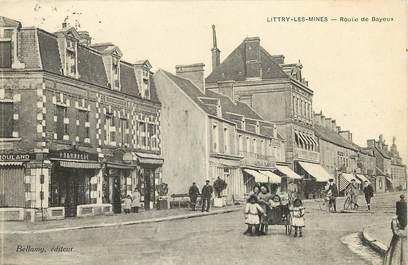 """CPA FRANCE 14 """"Littry les Mines, Rte de Bayeux"""""""