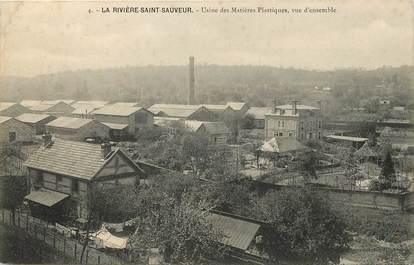 """CPA FRANCE 14 """"La Rivière Saint Sauveur, Usine des Matières Plastiques"""""""