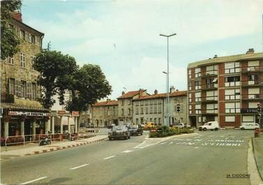 """/ CPSM FRANCE 42 """"Montbrison, le carrefour Lyon Saint Etienne """""""
